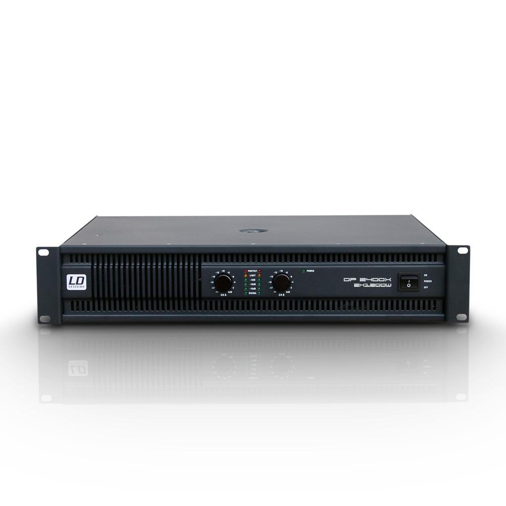 Âm ly 2 kênh chuyên nghiệp với bộ lọc tần số thấp DEEP2 2400 X - LD Systems