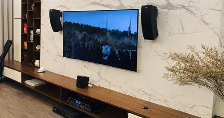 Hệ thống âm thanh xem phim tích hợp Karaoke, nghe nhạc All in one - CURV 500 được lắp đặt bàn giao cho KH
